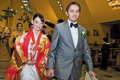 Joanna Misztela w dniu ślubu/fot. Marcin Cierpiał