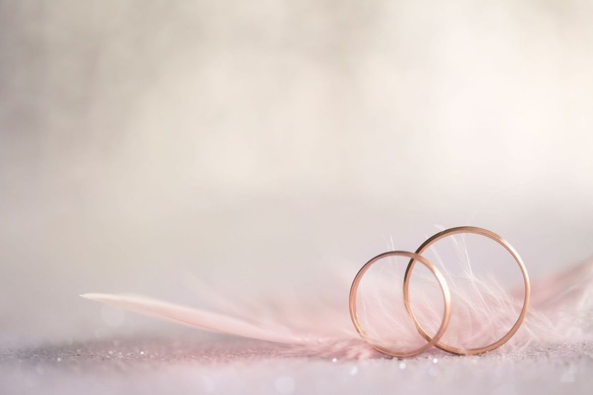 Terminarz ślubny obrączki