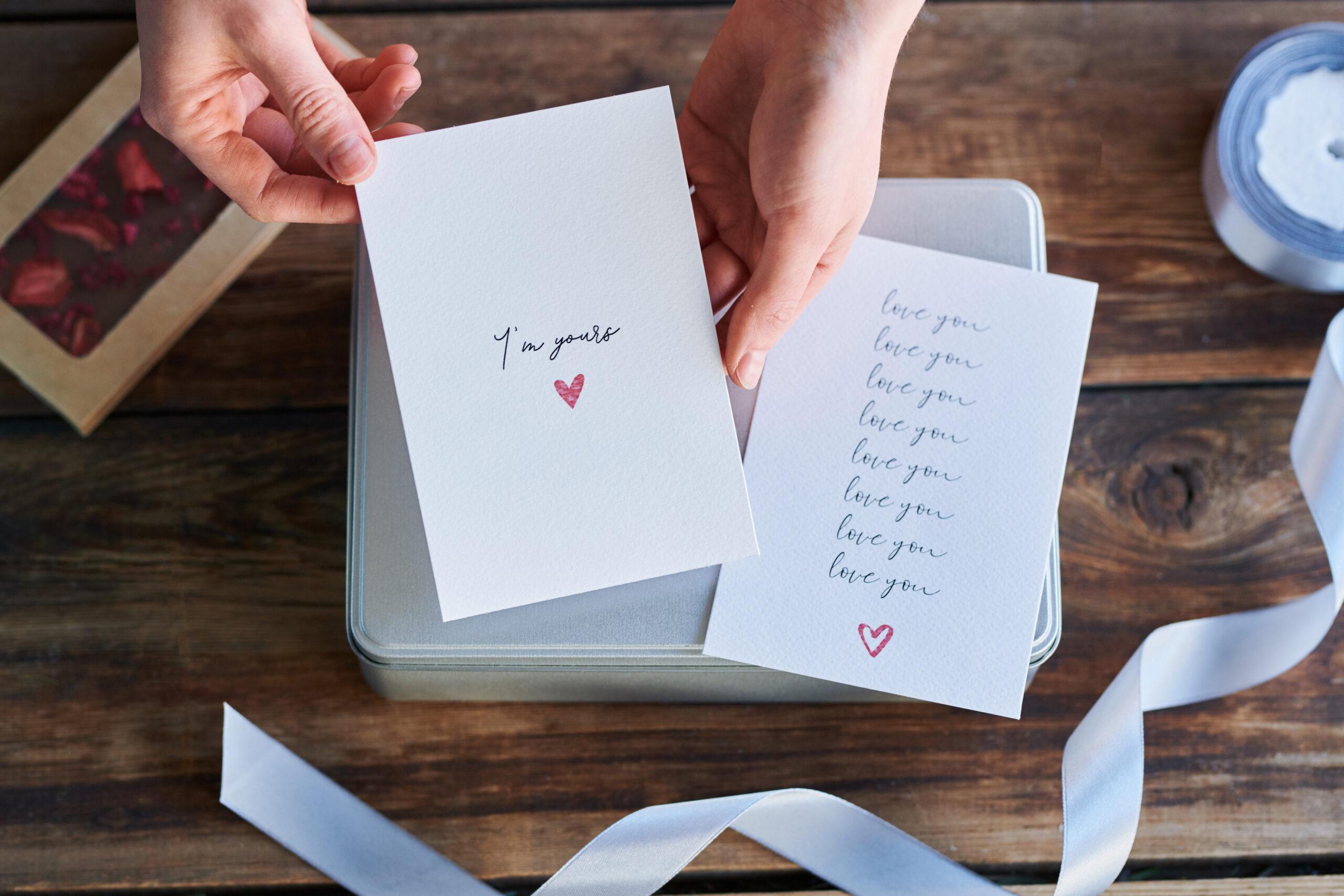 list miłosny - romantyczny prezent na walentynki dla niego