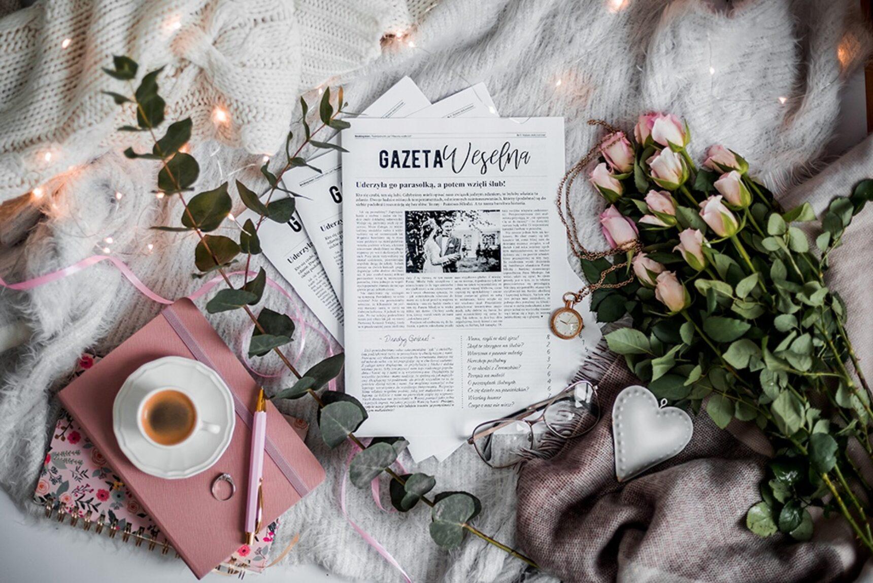 Nie wiesz, jakie podziękowanie dla gości wybrać? Gazeta weselna – to jest to!