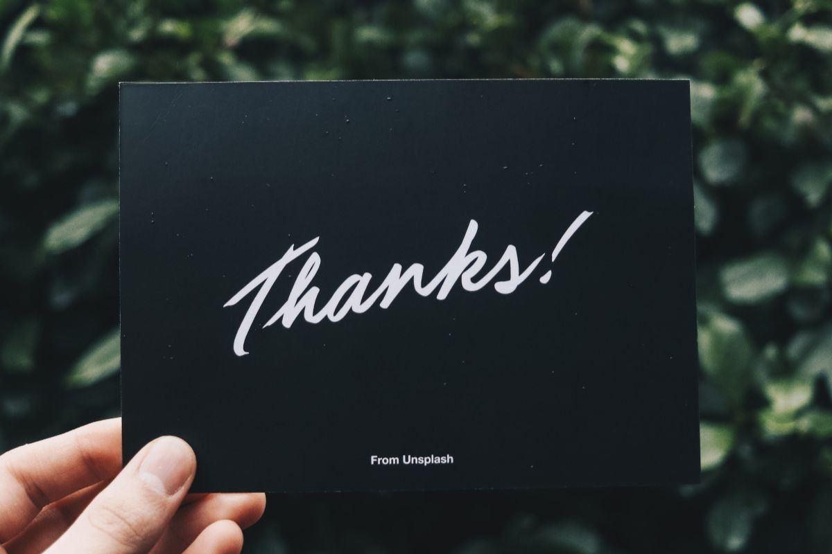 Podziękowania dla rodziców na kartce