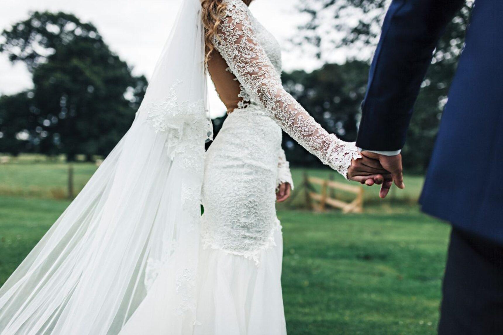 Idealny Welon ślubny Z Kryształkami Koronką Trendy 2019