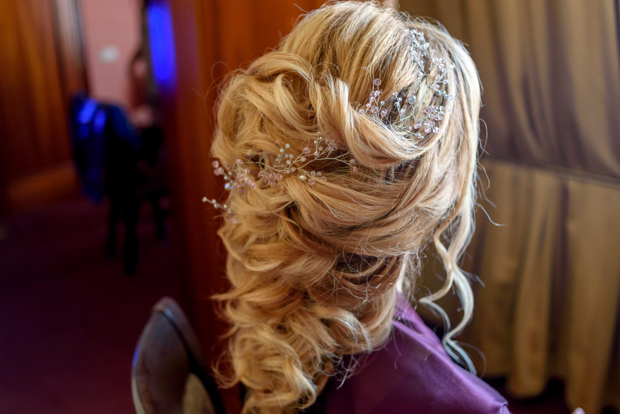 elegancka fryzura na wesele
