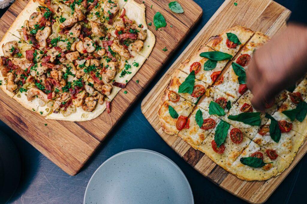 Pizza w małych kawałkach