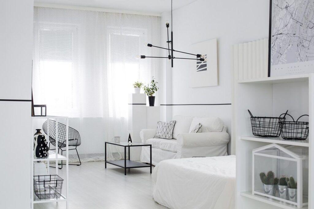 Czarno biały pokój