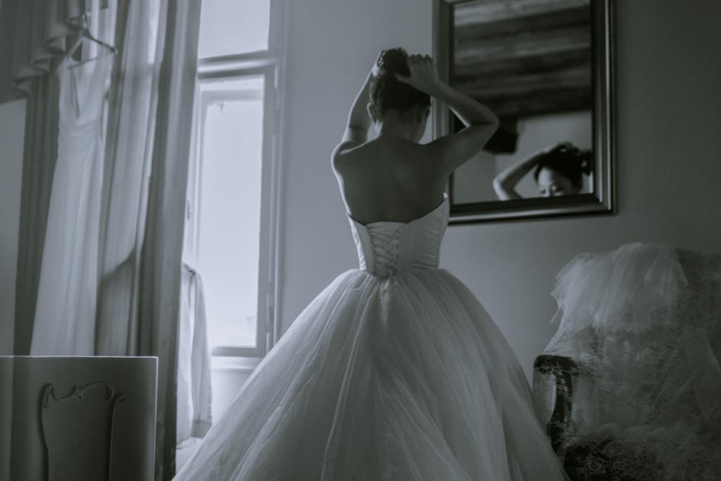 przygotowania do ślubu przed lusterkiem sennik