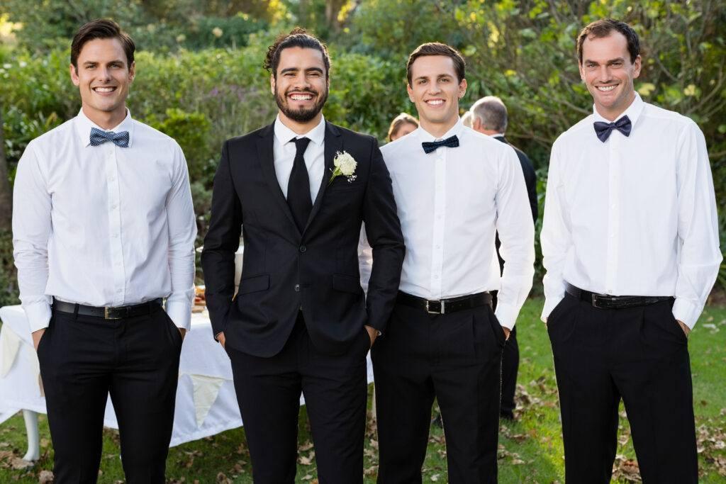 drużba weselny i pan młody