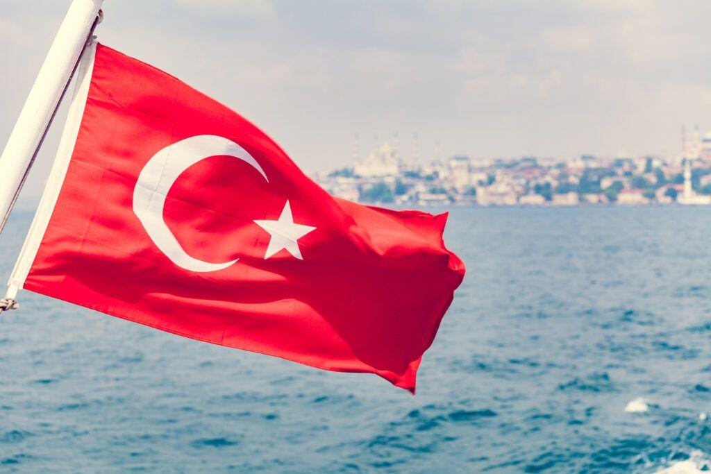 tureckie wesele - flaga Turcji