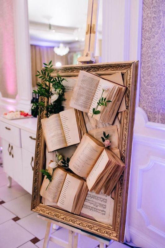 plan stołów weselnych w formie książki