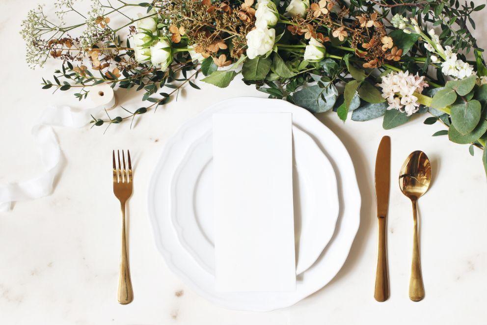 Kalendarz ślubny wybór menu na wesele