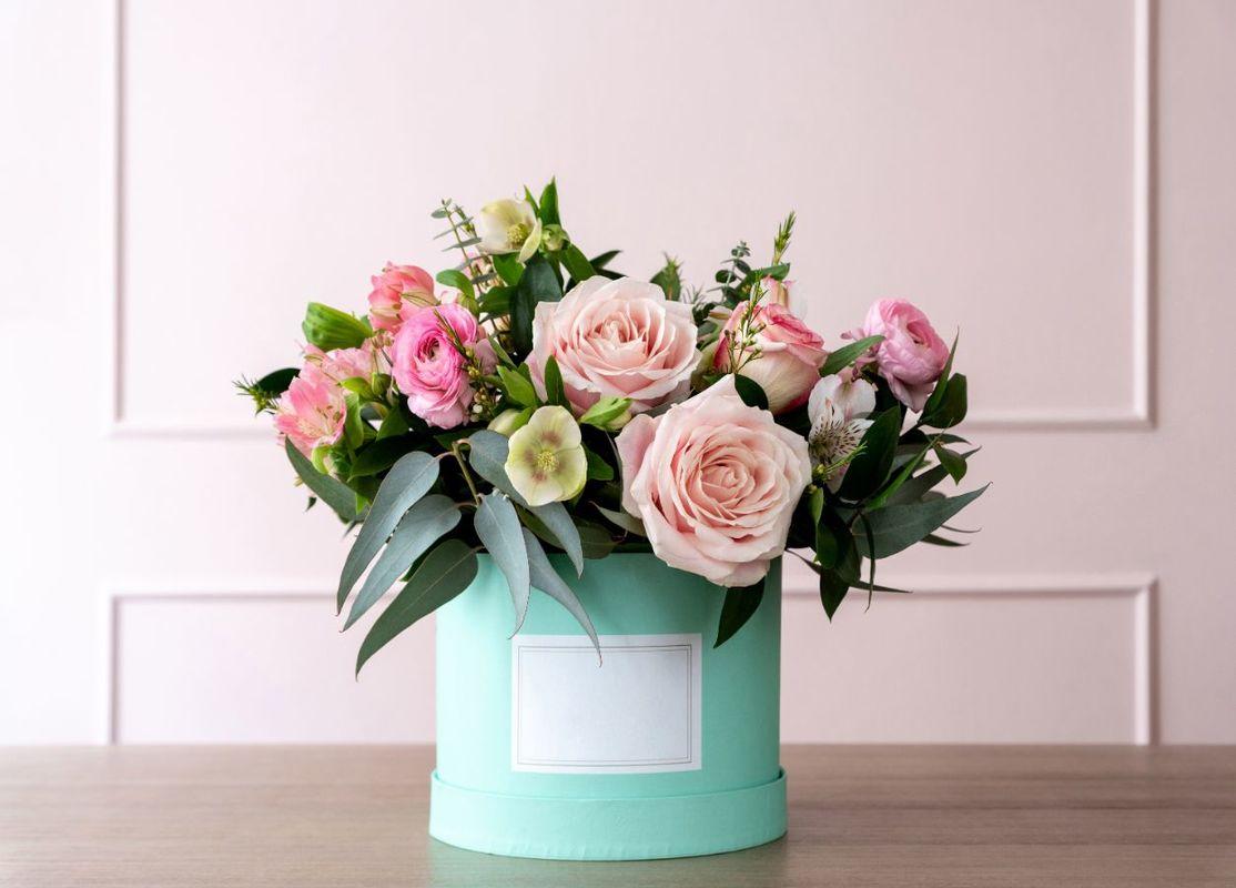Flower box z róż jako podziękowanie dla rodziców