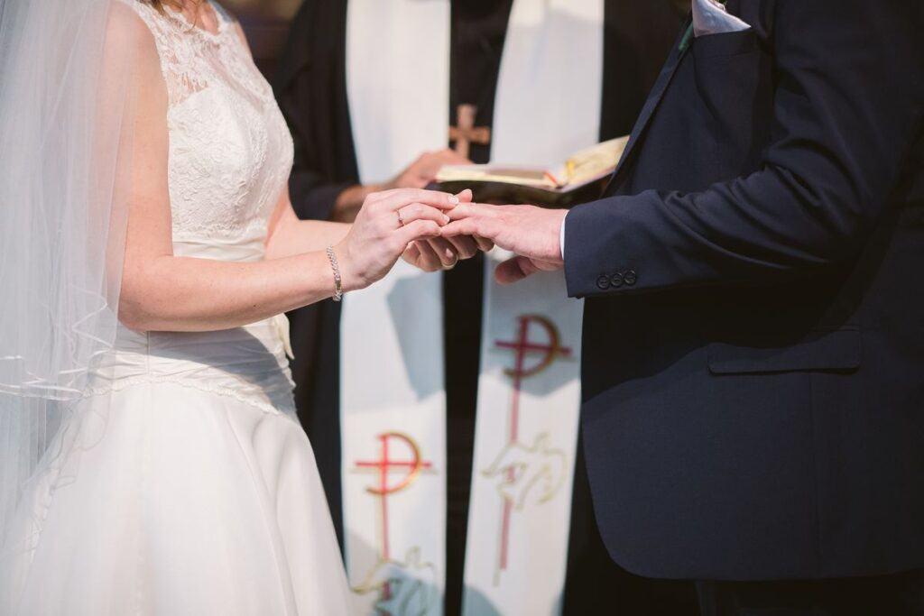 Ślub konkordatowy - para młoda