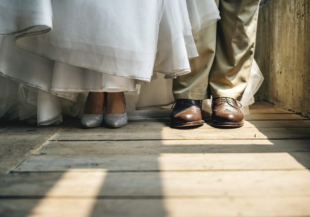 Przesądy ślubne dotyczące butów panny młodej i pana młodego