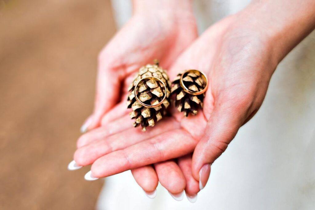 Obrączki zakładane podczas przysięgi ślubnej