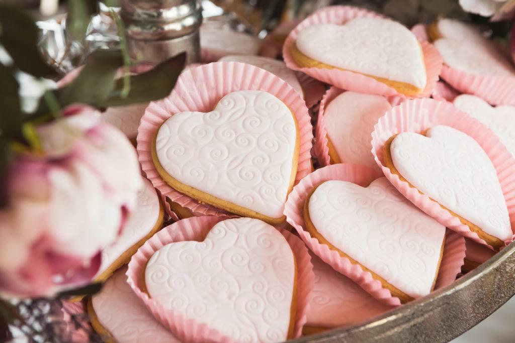 Ciasto na wesele - ciasteczka w kształcie serca