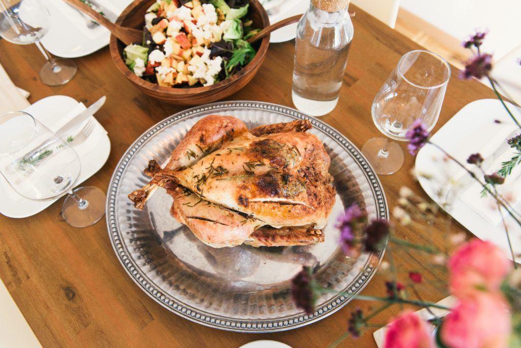 Obiad z kurczaka w diecie wysokobiałkowej